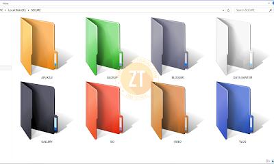Tips Folder Warna Warni di Windows