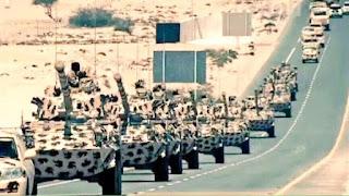 لحظة انسحاب القوات القطرية من الأراضي اليمنية