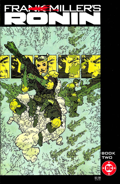 Ronin v1 #2 dc comic book cover art by Frank Miller