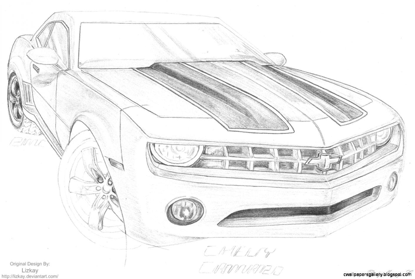 Cool Camaro Drawings | Wallpapers Gallery