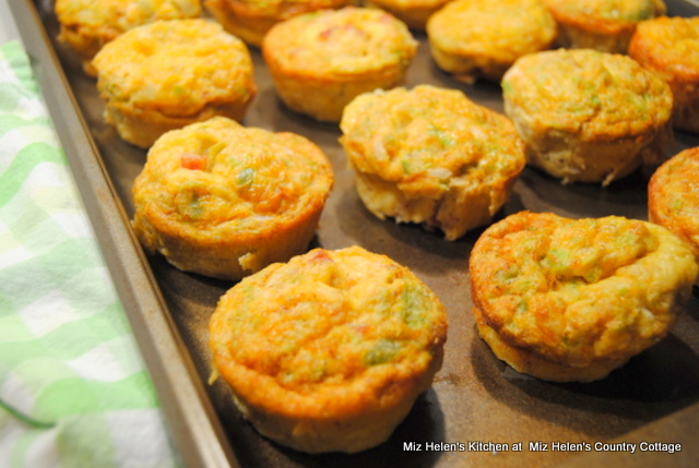 Mini Tex Mex Quiche at Miz Helen's Country Cottage