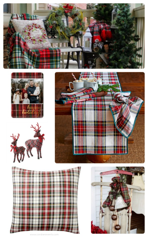 Cozy Plaid Christmas Decorations