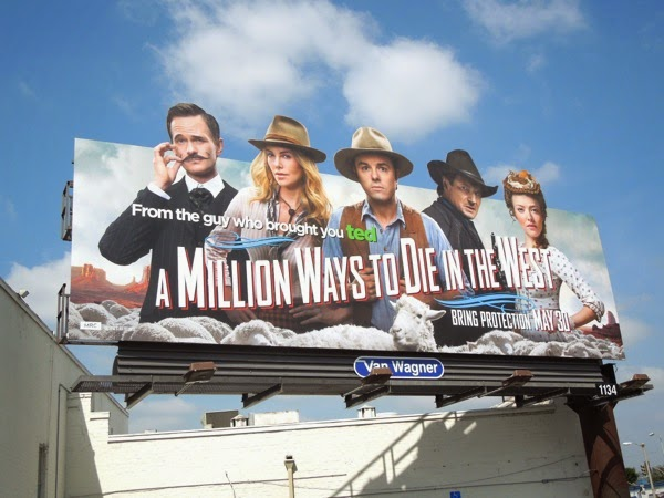 Million Ways to Die in the West special billboard