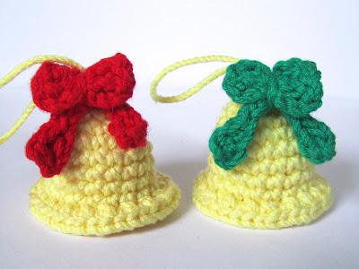 Amigurumi Christmas bells