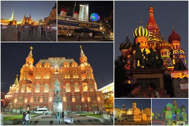 Fotografías nocturnas de Moscú