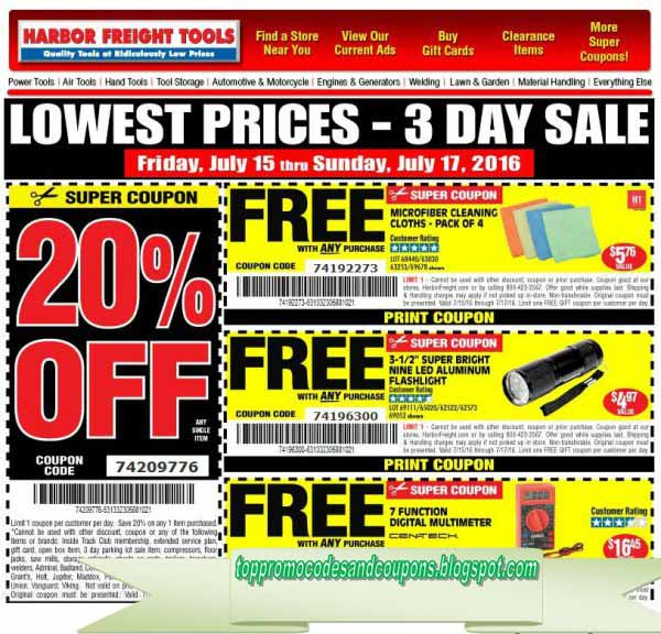 Free Promo Codes And Coupons 2019 Harbor Freight Coupons