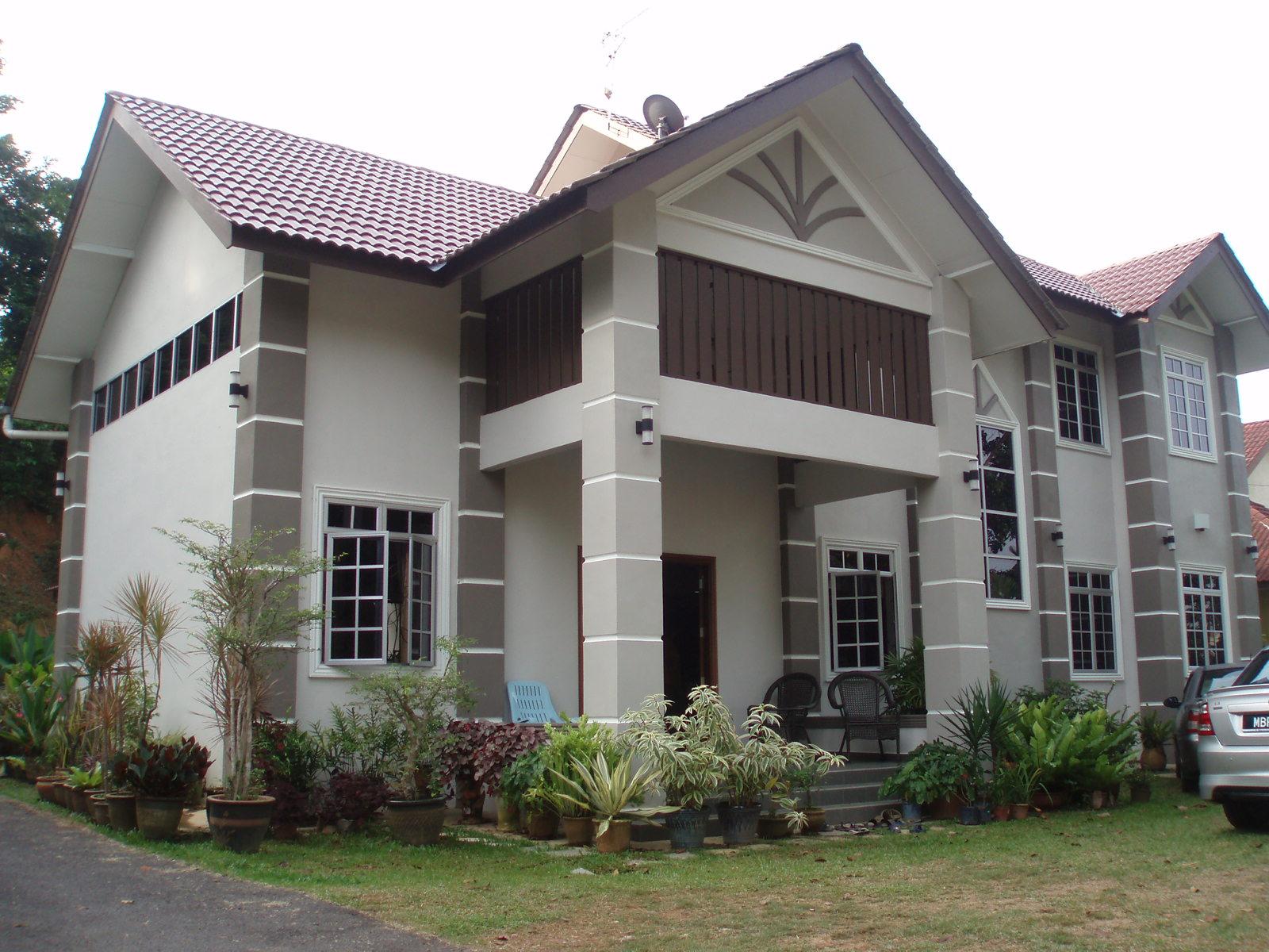 Gambar Desain Rumah Memanjang 2 Lantai  Contoh O
