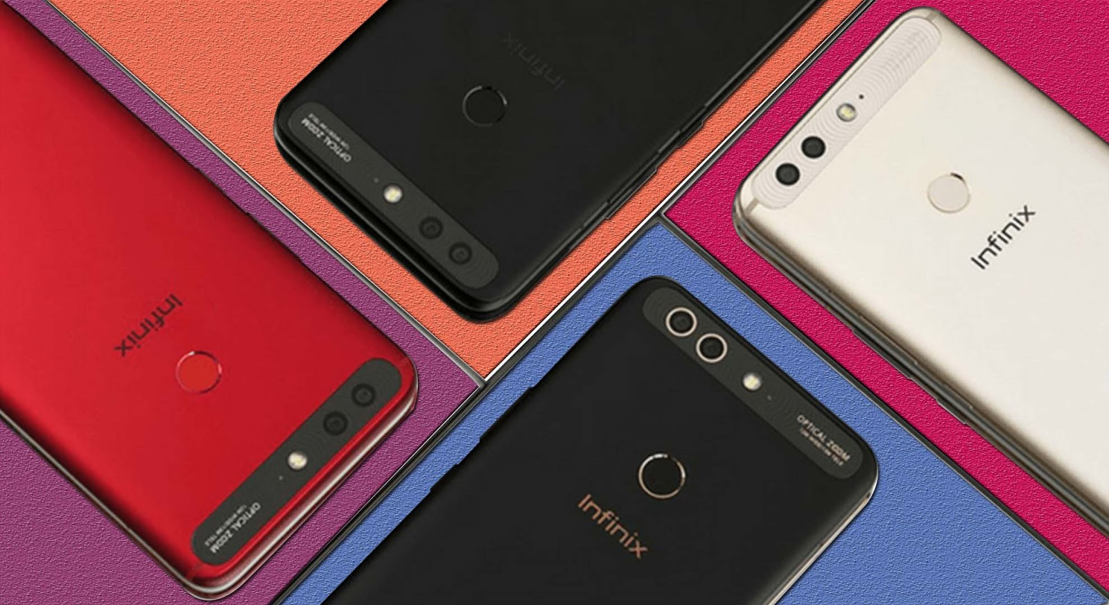The infinix zero 5's color variations