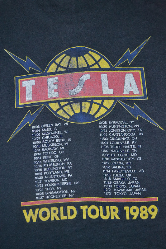 Pre Owned Tesla >> Anak Liar Rocks!: Vintage 1989 TESLA band World Tour T ...