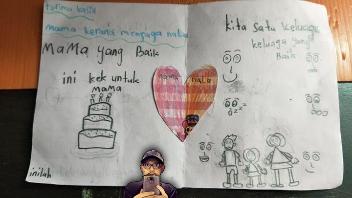 Kad Hari Ibu Buatan Sendiri Anak Umur 7 Tahun