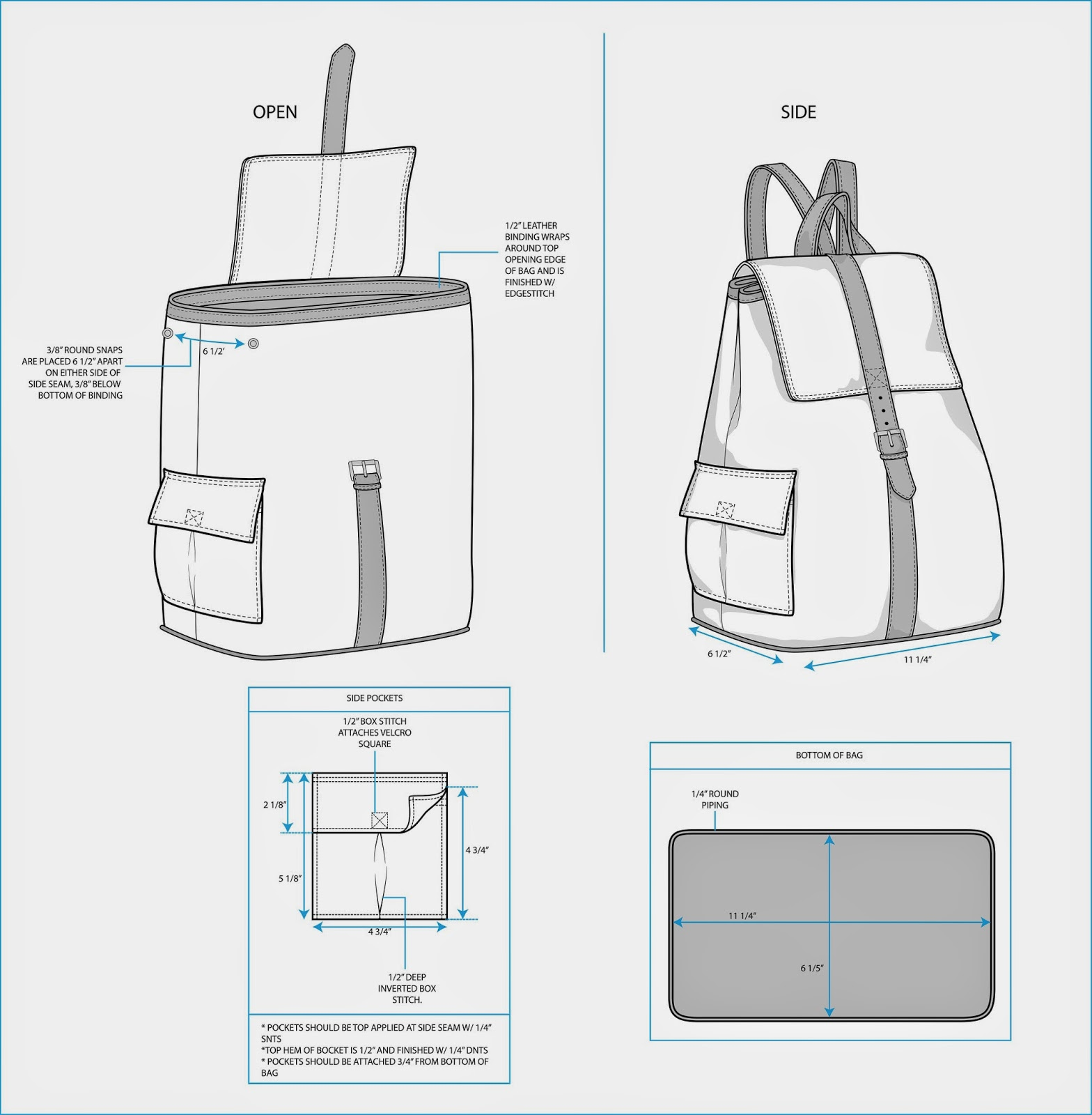 The Spinsterhood Diaries Sample Fashion Project Backpack Tech Pack