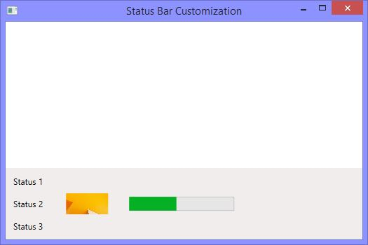 Customize status bar in WPF