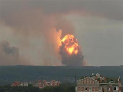 الانفجار الروسي, الغبار الاشعاعي, الارصاد المصرية,