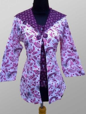 Model Baju Batik Kombinasi kerja kantor