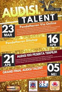 audisi talent dengan total hadiah jutaan dan kontrak management