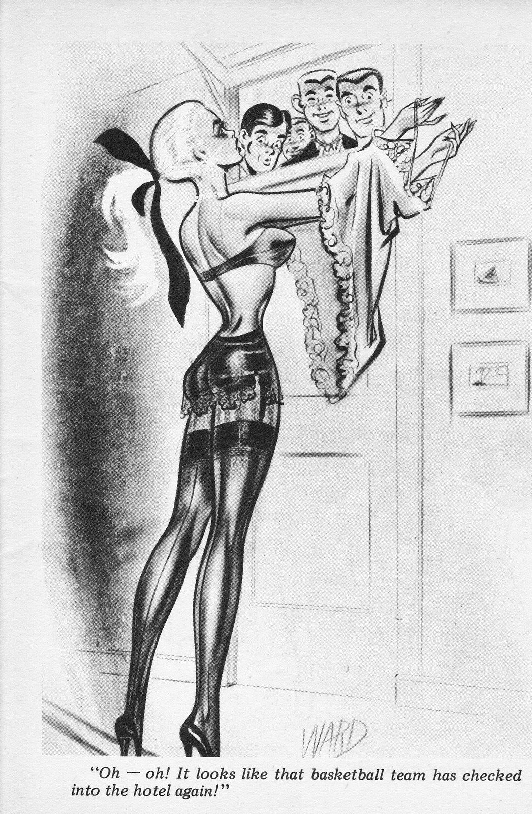 Frank Forte Vintage Sexy Pin-Up Cartoons From Humorama-4513