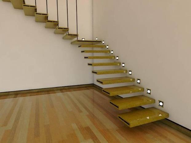 Tangga ruangan rumah Minimalis desain modern