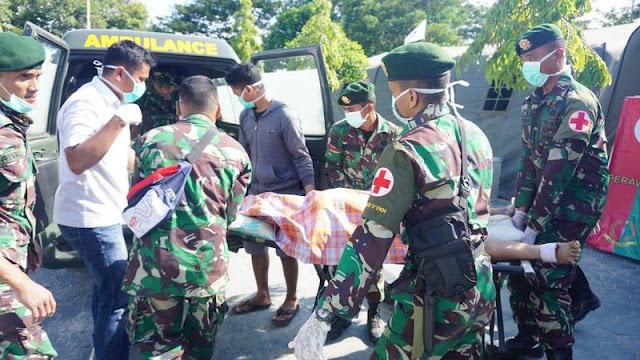 Satgas Bantuan Kesehatan TNI Beri Pelayanan Kesehatan di Kota Palu