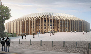 "alt=""Architects for the new stadium are Francesc Mitjans Miró, cousins ​​of Miró-Sans, and Josep Soteras Mauri"""