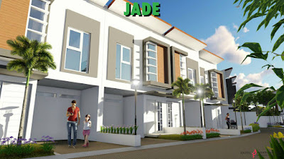 Gambar desain 3D rumah villa di Cluster Jade - Exotic Panderman Hill Batu Malang.