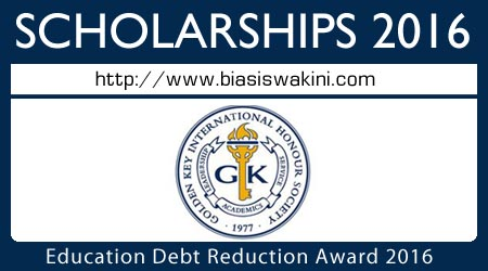 Education Debt Reduction Award 2016