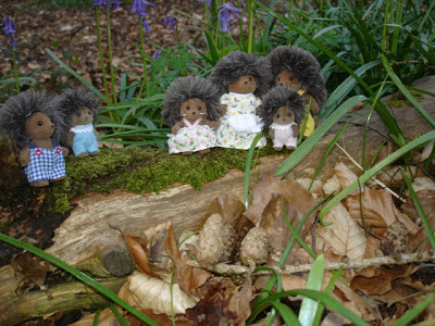 Sylvanian Families Bramble Hedgehog Family Babies Woods