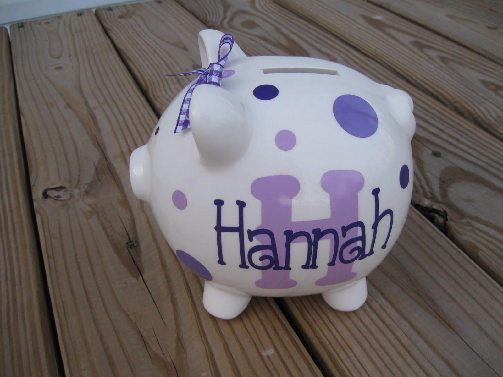 Ceramic Piggy Banks Personalized