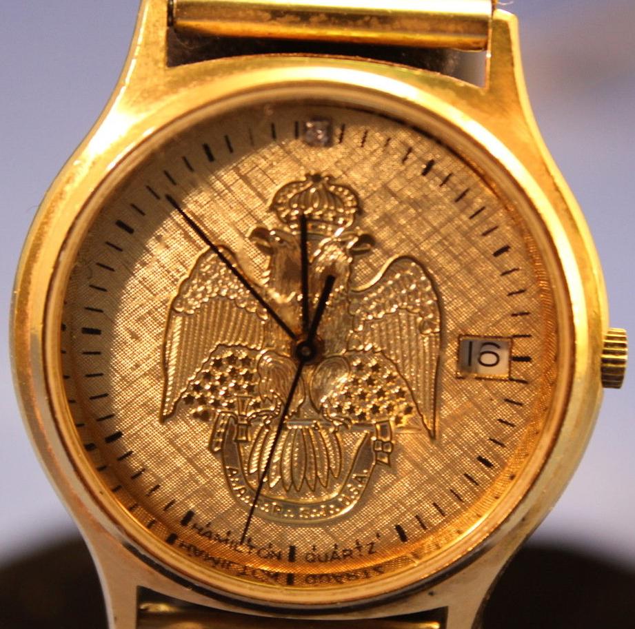 Vintage Hamilton 9812 Presentation Watches: Masonic Scottish