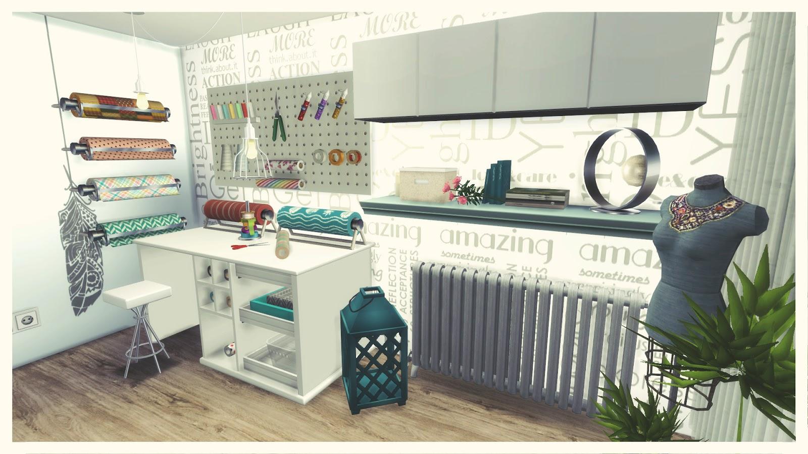 Sims 4  Fashion Design Studio Room  Mods for download  Dinha