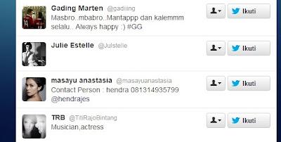 Daftar Artis dan Publik Figure yang Di-Follow SBY di Twitter