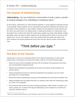 The Impact of Cyberbullying and the Role of the Teacher - IICT