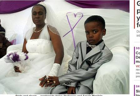 8 year old boy marries a woman sexagenarian in South Africa