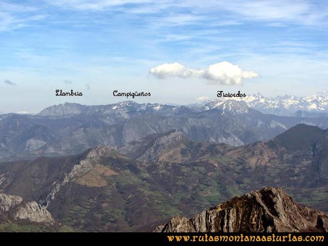 Ruta Retriñon: Vista de la Llambria, Campigueños y Tiatordos