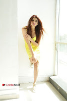 Actress Model Ihana Dhillon Poshoot Gallery in Yellow Lace Short Dress  0019.jpg
