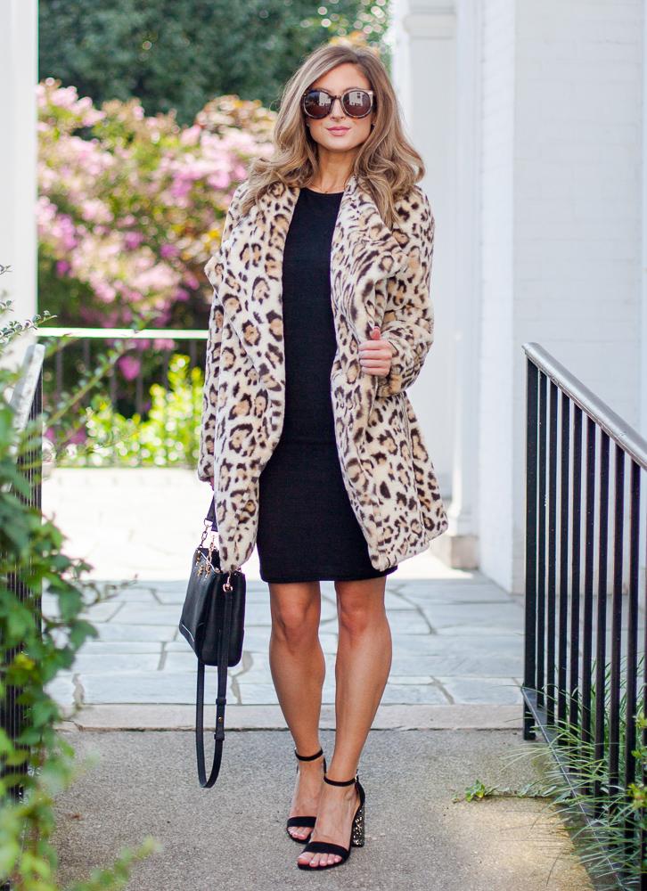nordstrom bb dakota leopard faux fur jacket