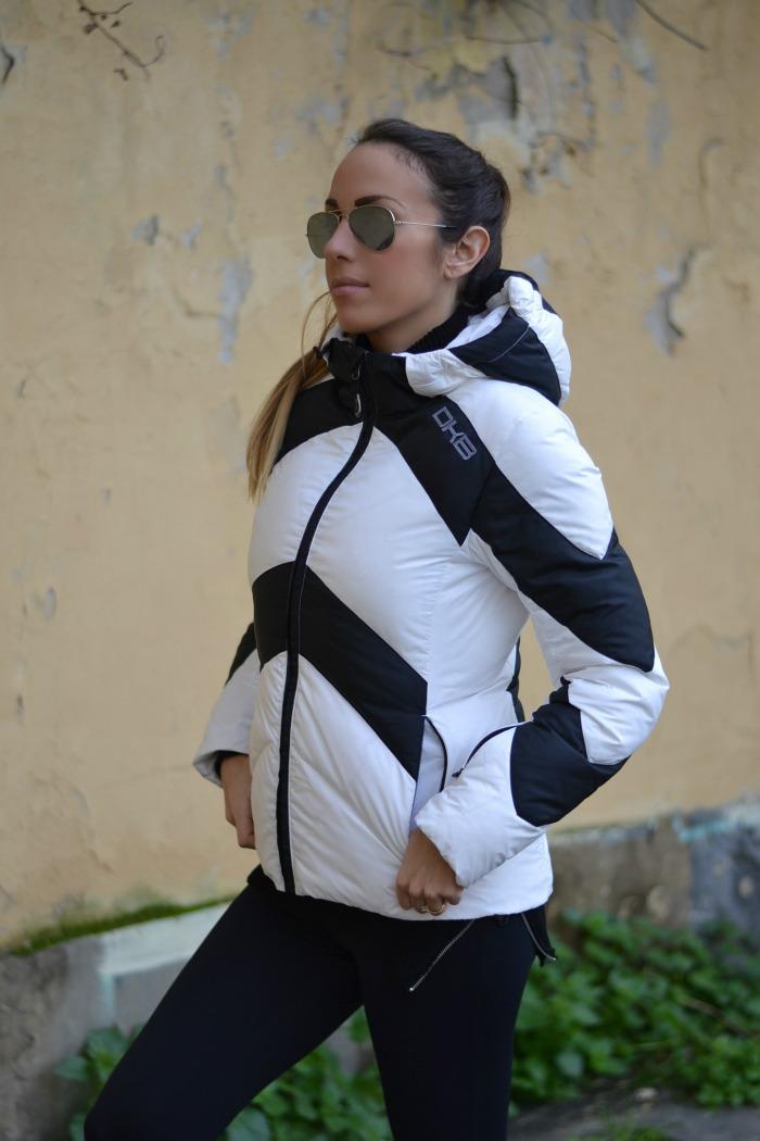 giacca bianco nero dkb