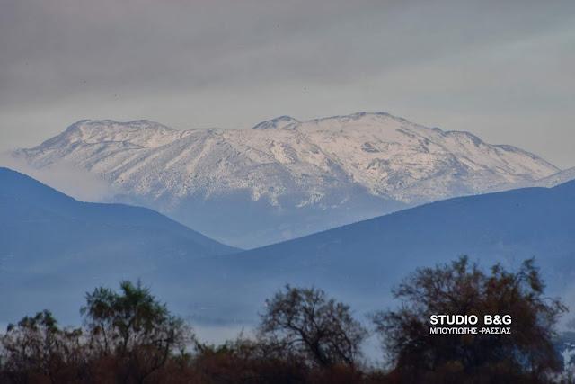 Τα πρώτα χιόνια εμφανίστηκαν στα γύρω βουνά της Αργολίδας