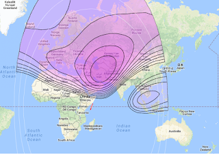 Maps Satellite Azerspace-1/Africasat-1a 46.0°E