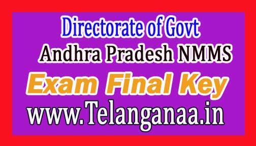 Directorate of Govt Andhra Pradesh NMMS Nov 2016 Exam Final Key