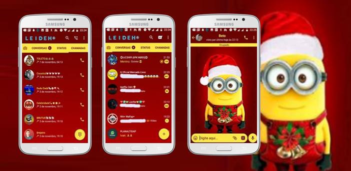Baixar Temas GBWhatsapp - Minnion Christmas