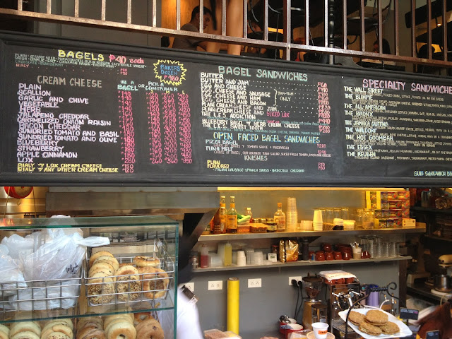 L.E.S. Bagels New York Deli + Bakery Menu Board