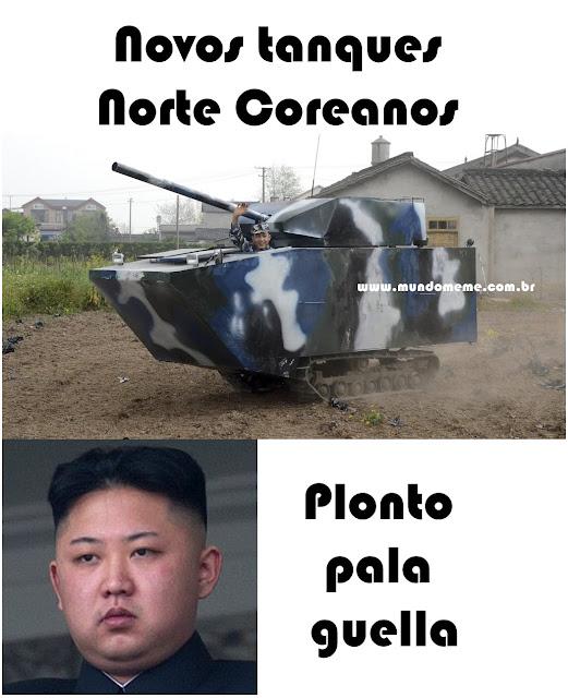 www.mundomeme.com.br - Novos tanques de guerra norte coreanos