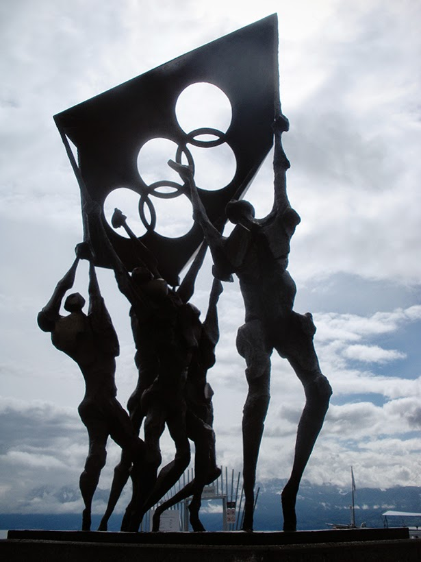 Olympic art in Lausanne, Switzerland