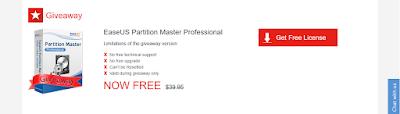 عرض رائع ! أحصل على برامج EaseUS Partition Master Professional بالمجان و بطريقة قانونية