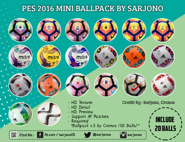 PES 2016 Mini Ball Pack Season 2016-2017