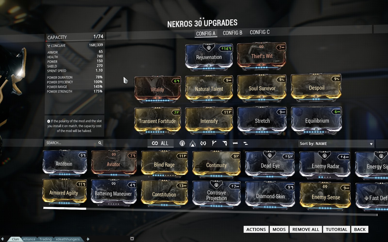 Best Nekros Farming Build Warframe