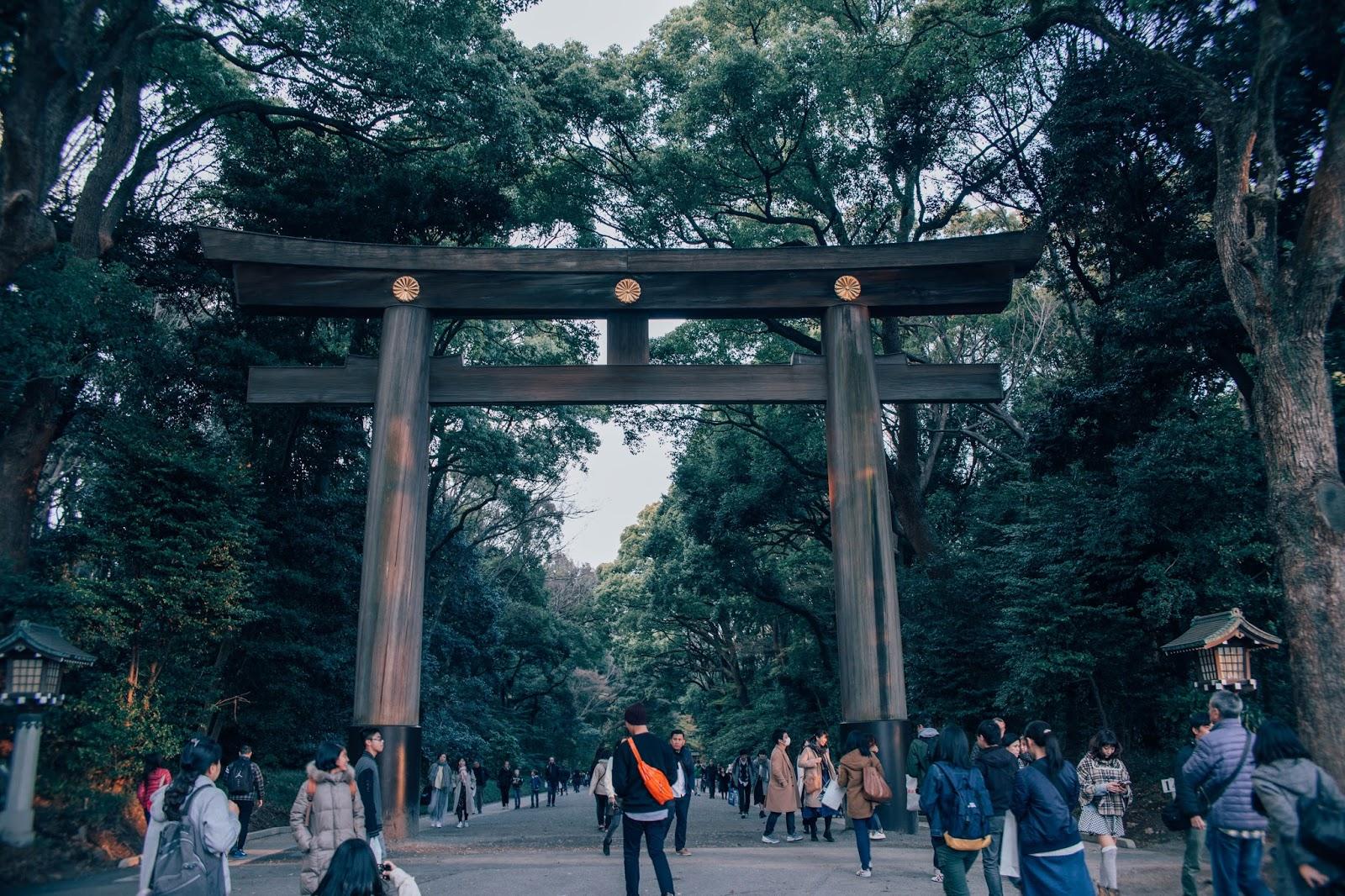 meiji, shrine, tokyo, gate