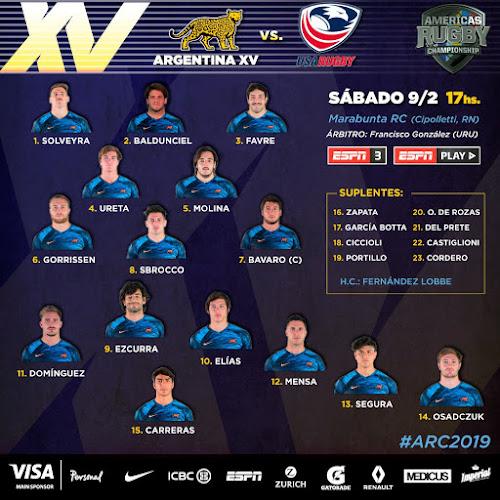 Argentina XV sin cambios para enfrentar a Estados Unidos