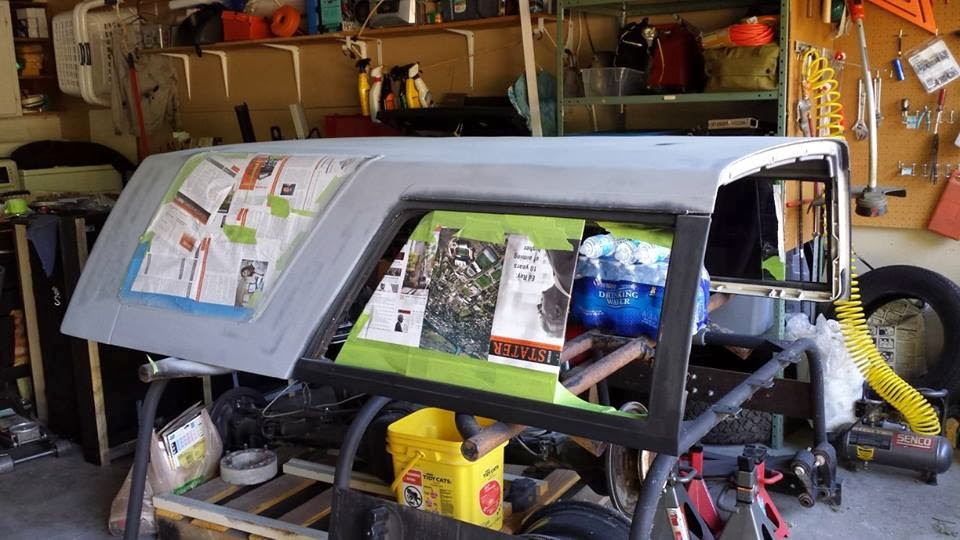Fixing The Truck Again Repainting The 4runner Fiberglass
