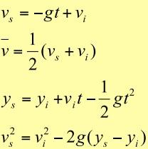 Serbest Düşme Formülleri Fizik